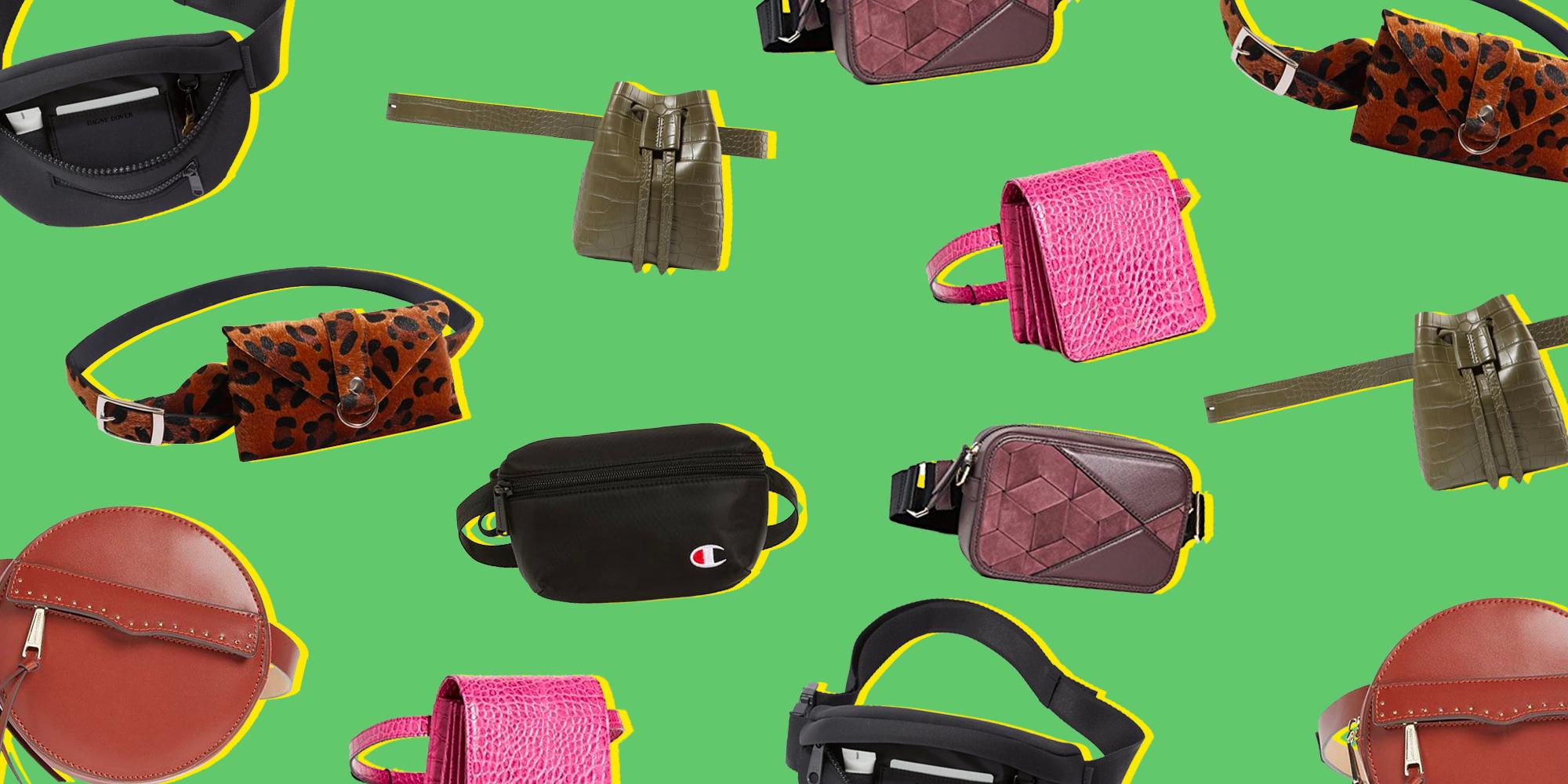 Coloured Stud Design Belt Bag Travel Money Bag Bum Bag Fanny Pack Money Wallet