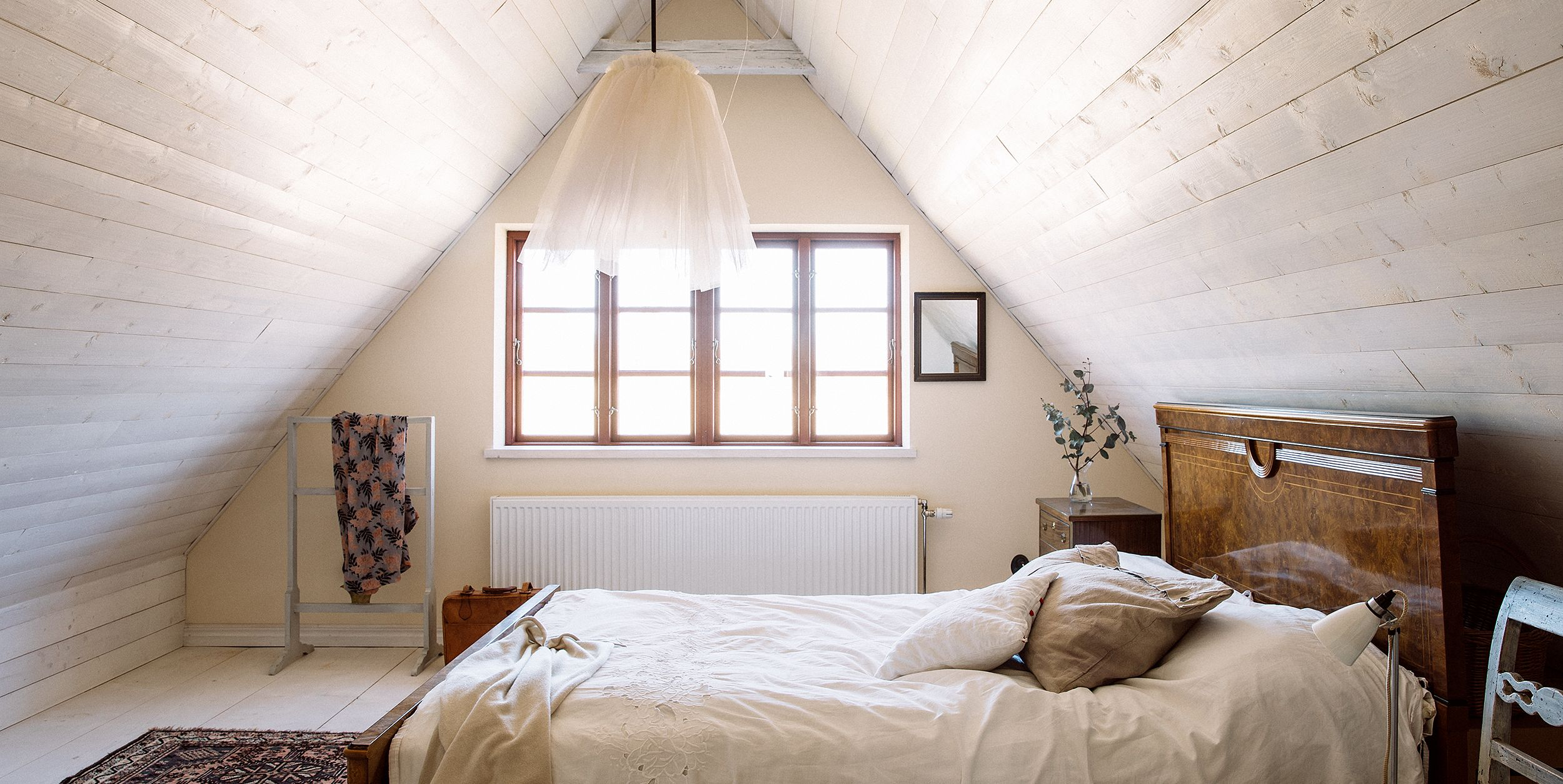 Bedroom Attractive And Functional Attic Bedroom Design: Sloped Ceiling Design Ideas