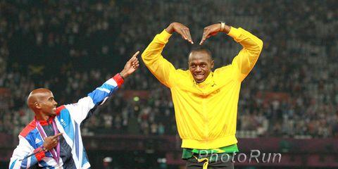 Mo Farah and Usain Bolt