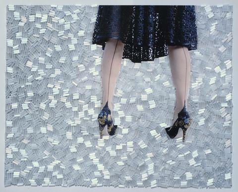 White, Black, Leg, Dress, Footwear, Fashion, Human leg, Pattern, Design, Shoe,