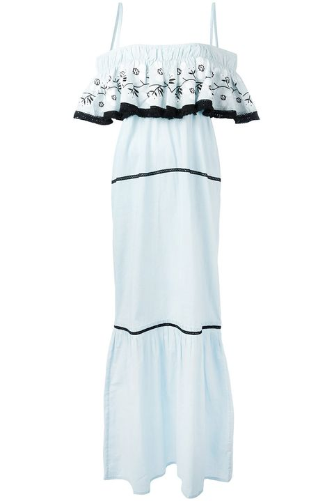 White, Clothing, Product, Dress, Ruffle, Sleeve, Day dress, Textile, Baby Products, Baby & toddler clothing,