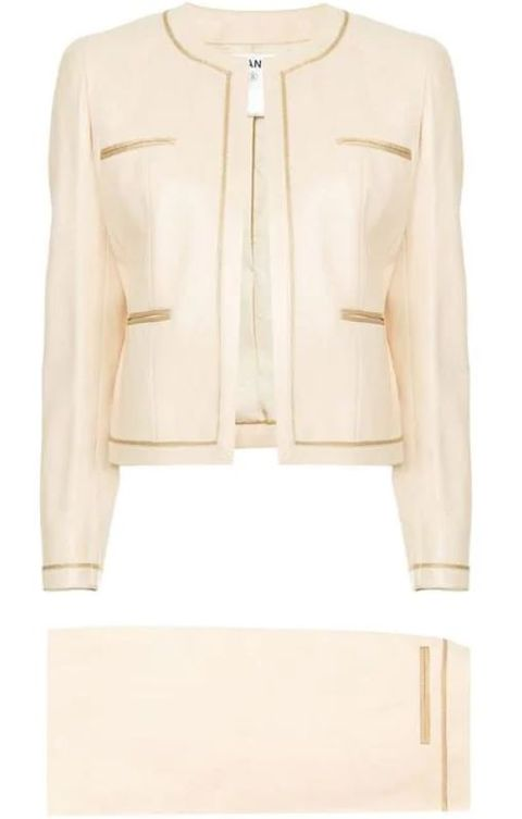 Clothing, Outerwear, Jacket, Blazer, Beige, Leather, Sleeve, Top, Leather jacket,