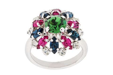Christian Dior Pre-Owned 1991 Floral Ring