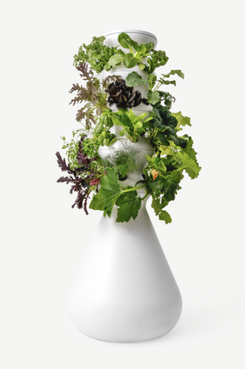 white vertical planter