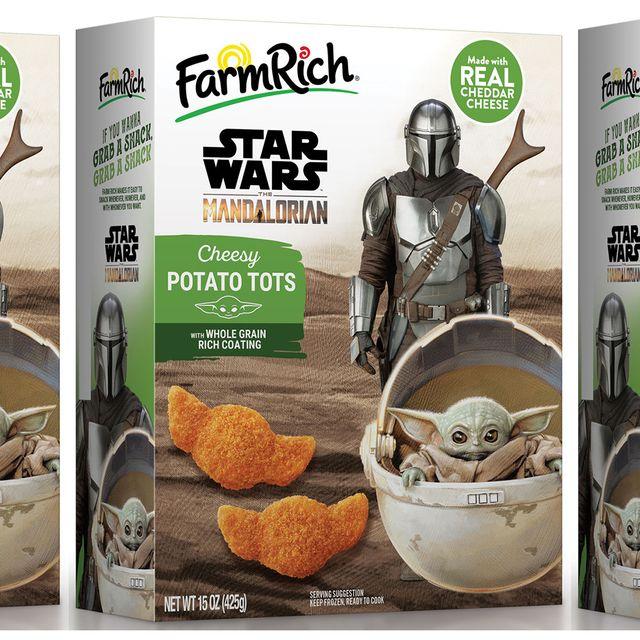 farm rich star wars the mandalorian baby yoda cheesy potato tots