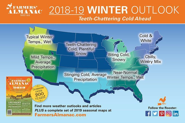 Farmers' Almanac Winter 2019 Weather Forecast: Cold, Snowy Winter