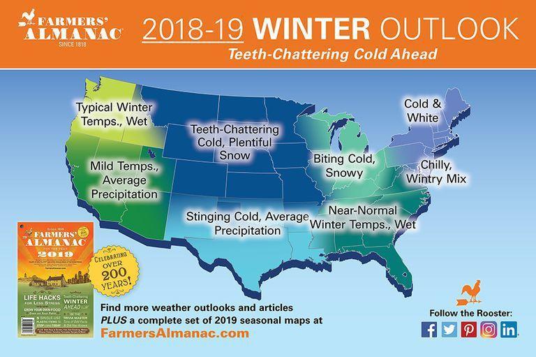 Farmers' Almanac Winter 2019 Weather Forecast: Cold, Snowy Winter