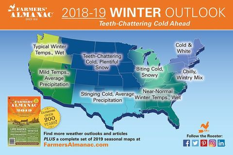 showing 3rd image of Farmers Almanac 2018 2019 Oklahoma Winter Predictions Old Farmer's Almanac predicts cooler, wetter 2019 | Local ...