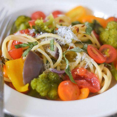 farmers market veggie pasta