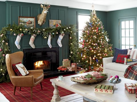 farmhouse christmas decorating ideas christmas living room