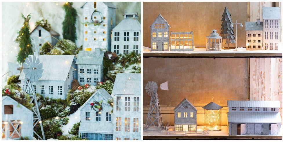 Where To Buy Galvanized Christmas Village Zinc Metal