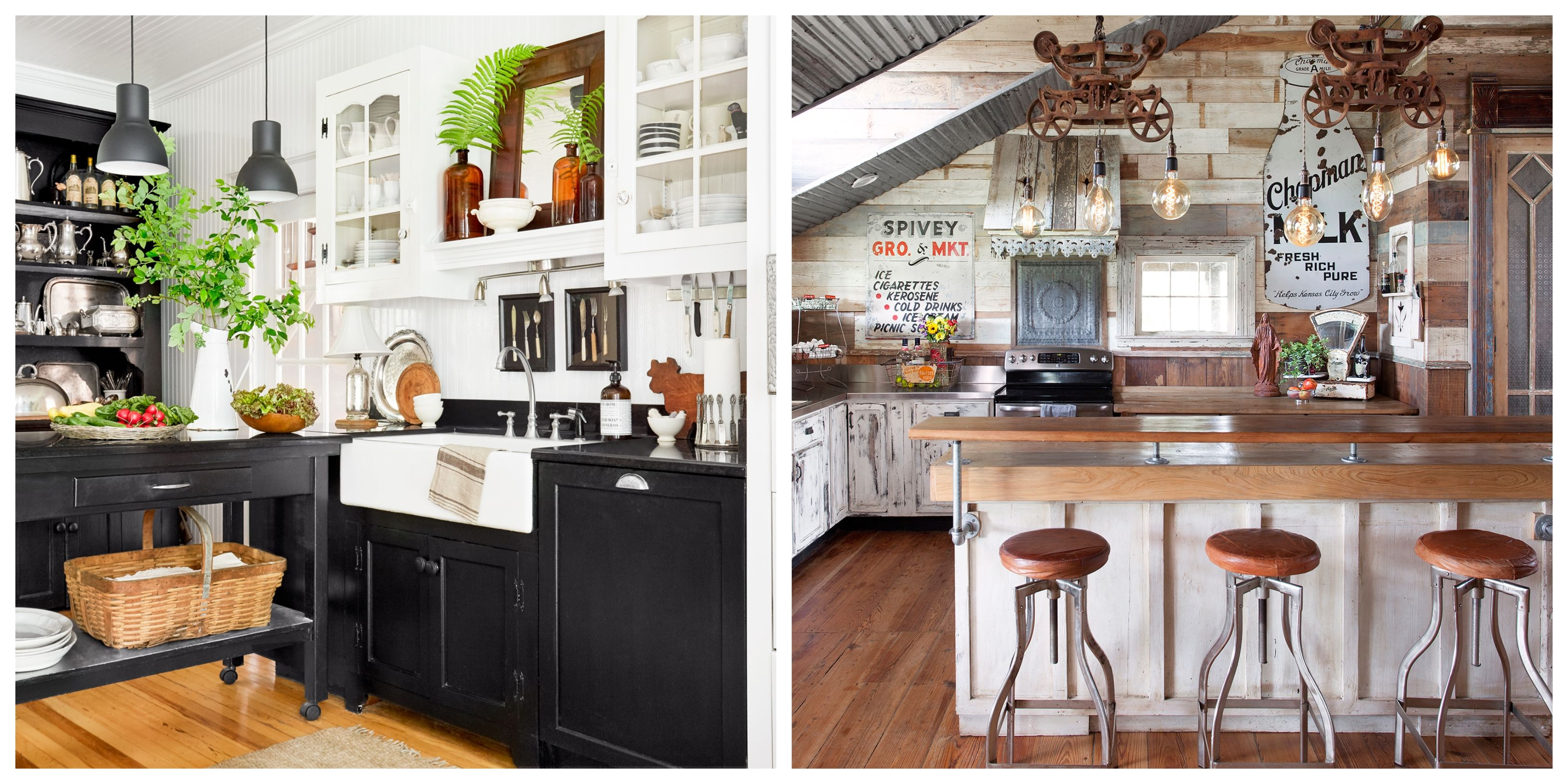 24 Farmhouse Style Kitchens Rustic Decor Ideas For Kitchens