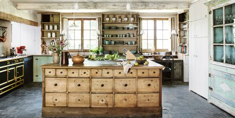 8f0ca0d41f5 24 Farmhouse Style Kitchens - Rustic Decor Ideas for Kitchens
