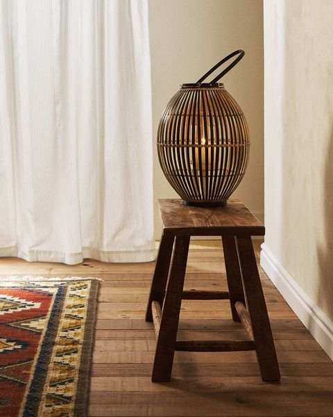 farolillo de bambú con asa