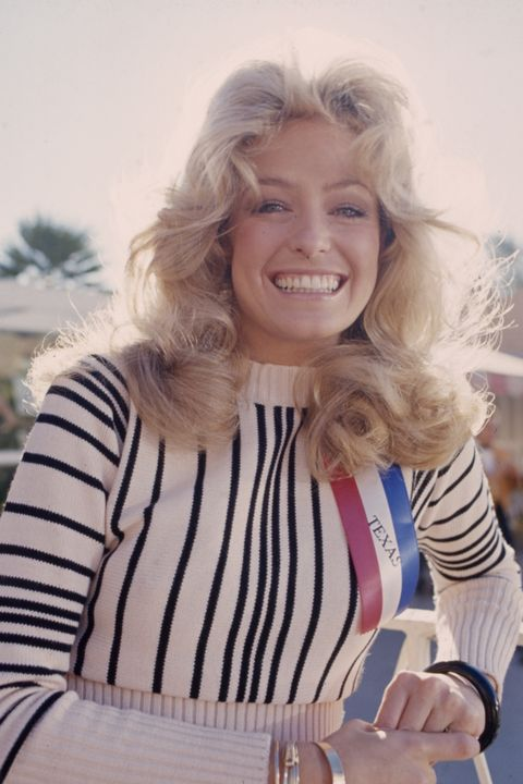 farrah fawcett appearing in 'the great american beauty contest'