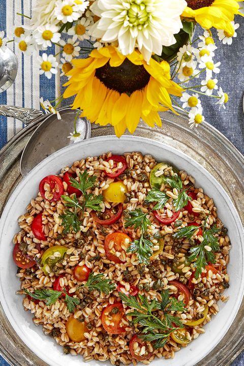farro and tomato salad with crispy capers recipe