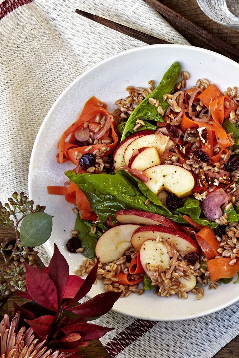 Farro, Apple, and Carrot Salad