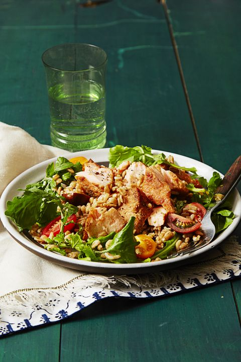 What Is Farro - Farro and Arugula Salad with Mustard Dressing