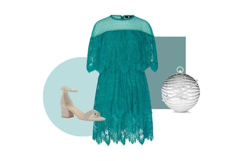 Green, Turquoise, Blue, Teal, Aqua, Illustration, Turquoise, Dress, Outerwear, Textile,