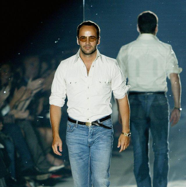 us fashion designer tom ford walks on th