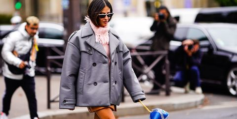Street fashion, Photograph, Fashion, Snapshot, Street, Pedestrian, Coat, Suit, Standing, Outerwear,