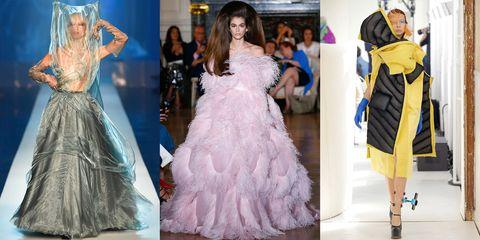 Fashion model, Clothing, Fashion, Dress, White, Haute couture, Gown, Shoulder, Pink, Fashion design,