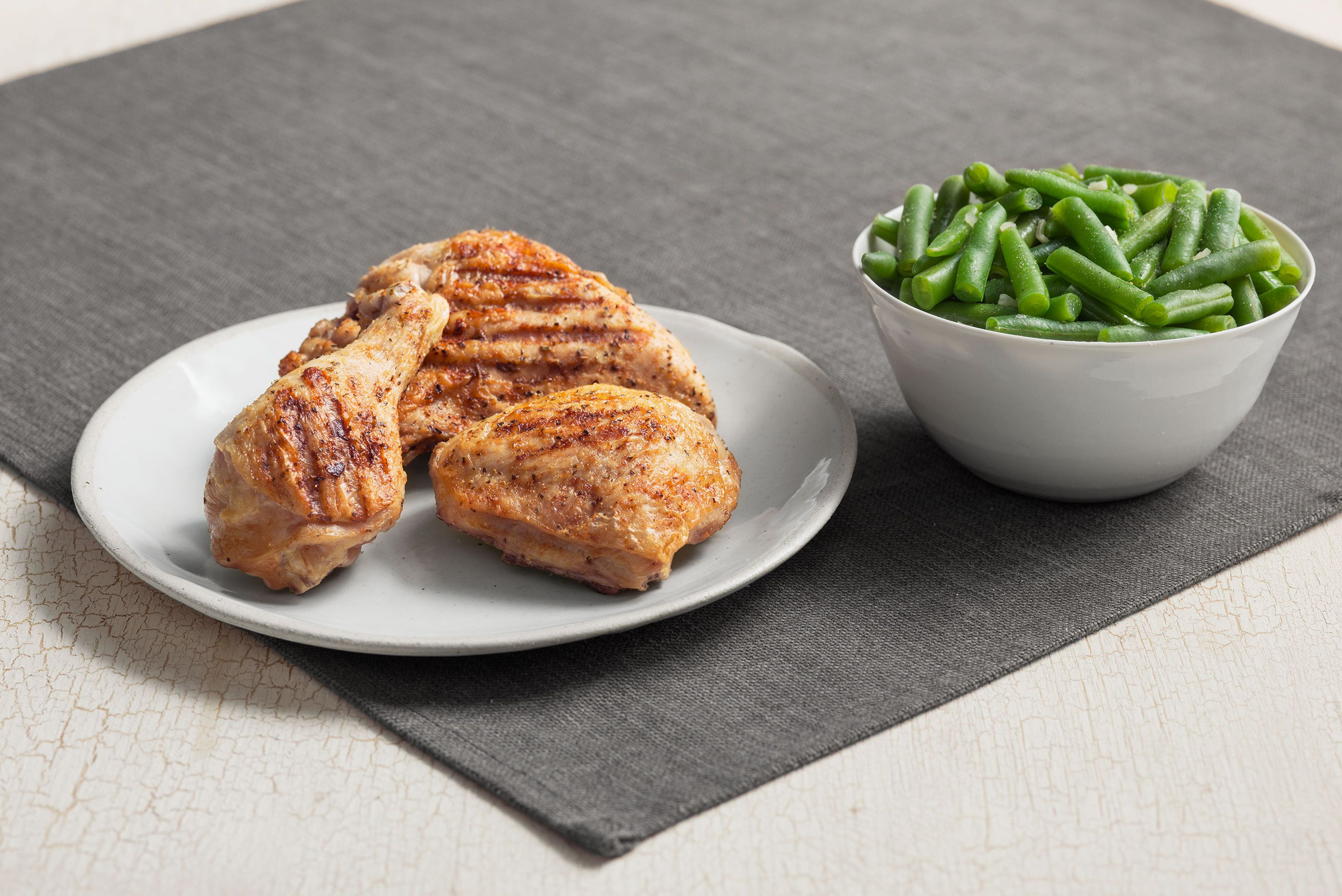Kentucky Fried Chicken Grilled Chicken Breast with Green Beans