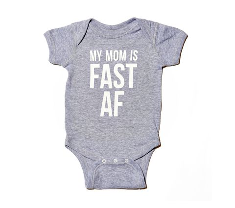 Sarah Marie Design Studio My Mom Is Fast AF - Infant Bodysuit