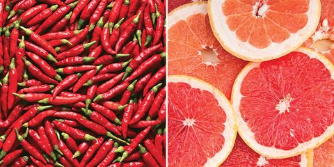 Chili peppers and grapefruit