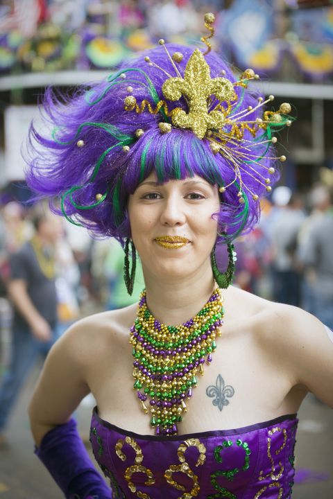 Fat Tuesday costume at Mardi Gras - New Orleans