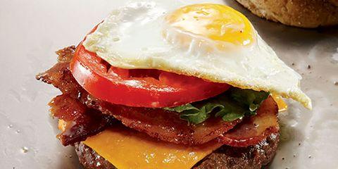 Egg and cheese burger