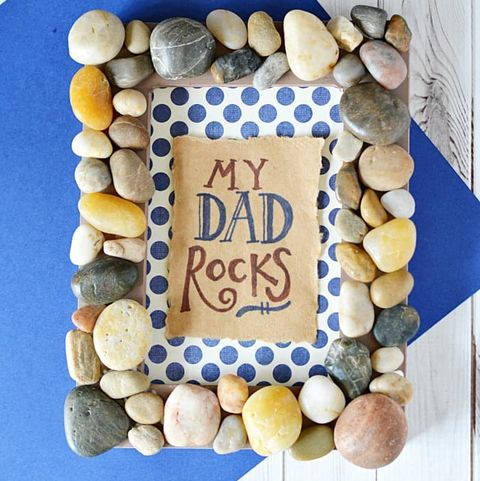 my dad rocks picture frame father's day craft