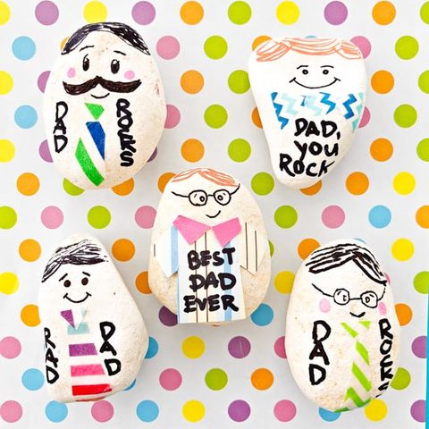 dad rocks paperweight father's day craft