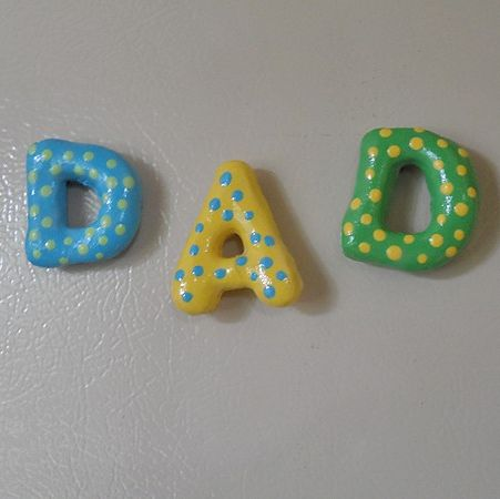 salt dough dad magnets father's day crafts