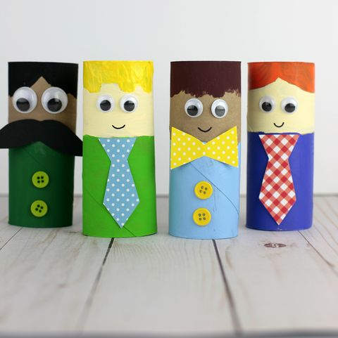 paper tube dad father's day craft