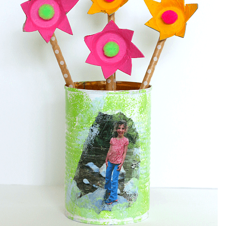 tin can pencil holder father's day craft