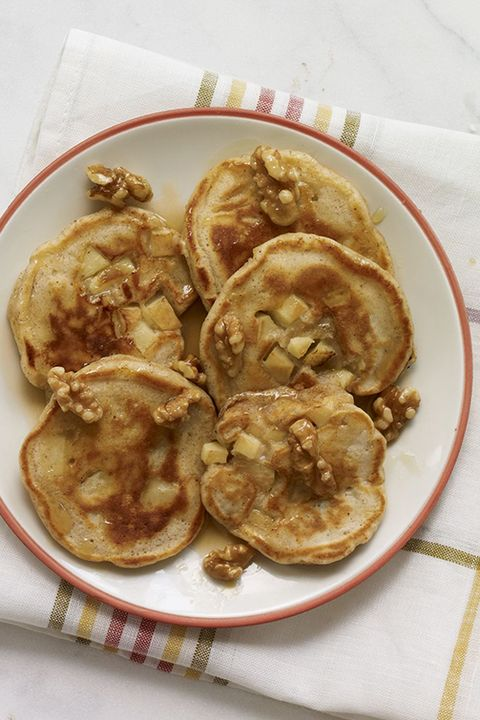 fathers day brunch apple pie pancakes with maple walnuts