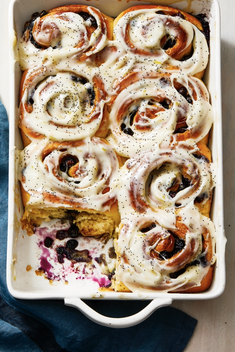 blueberry sweet rolls with lemon
