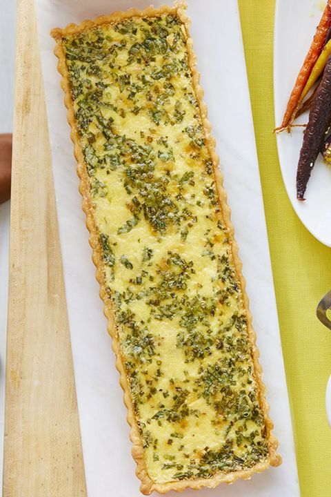 fathers day brunch cheese and herb quiche