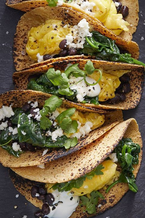 fathers day brunch scrambled egg tacos