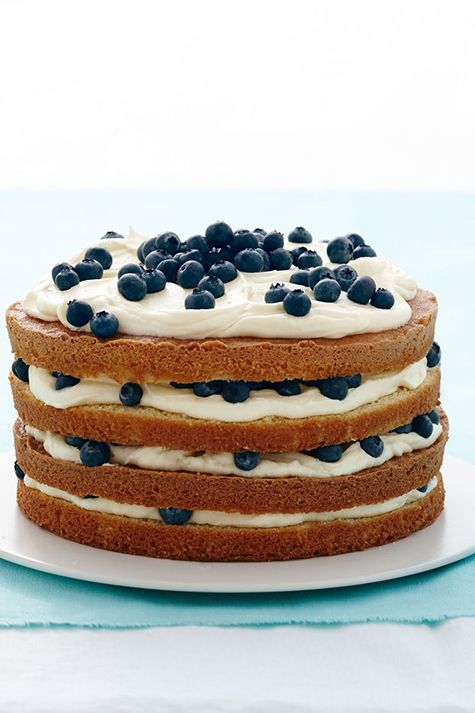fathers day cakes lemon blueberry layer cake