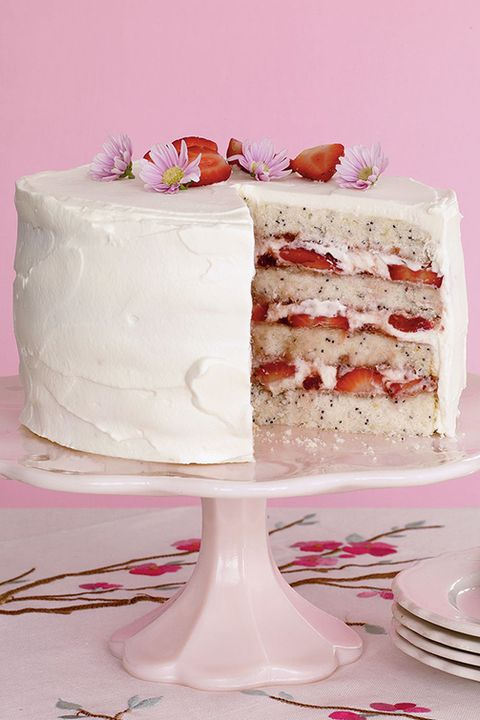 fathers day cakes lemon poppy seed cake with strawberries