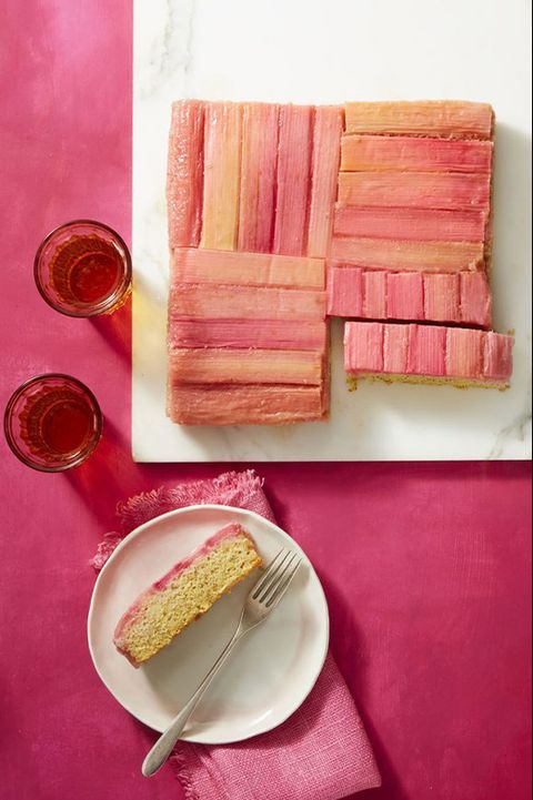 fathers day cakes rhubarb and almond upside down cake