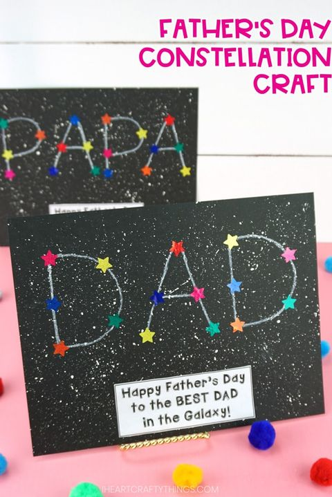 fathers day card ideas  constellation card