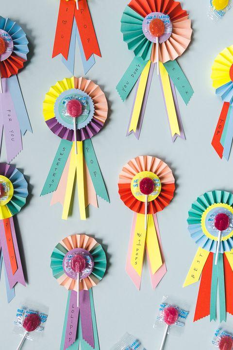 fathers day card ideas  lollipop prize ribbon card