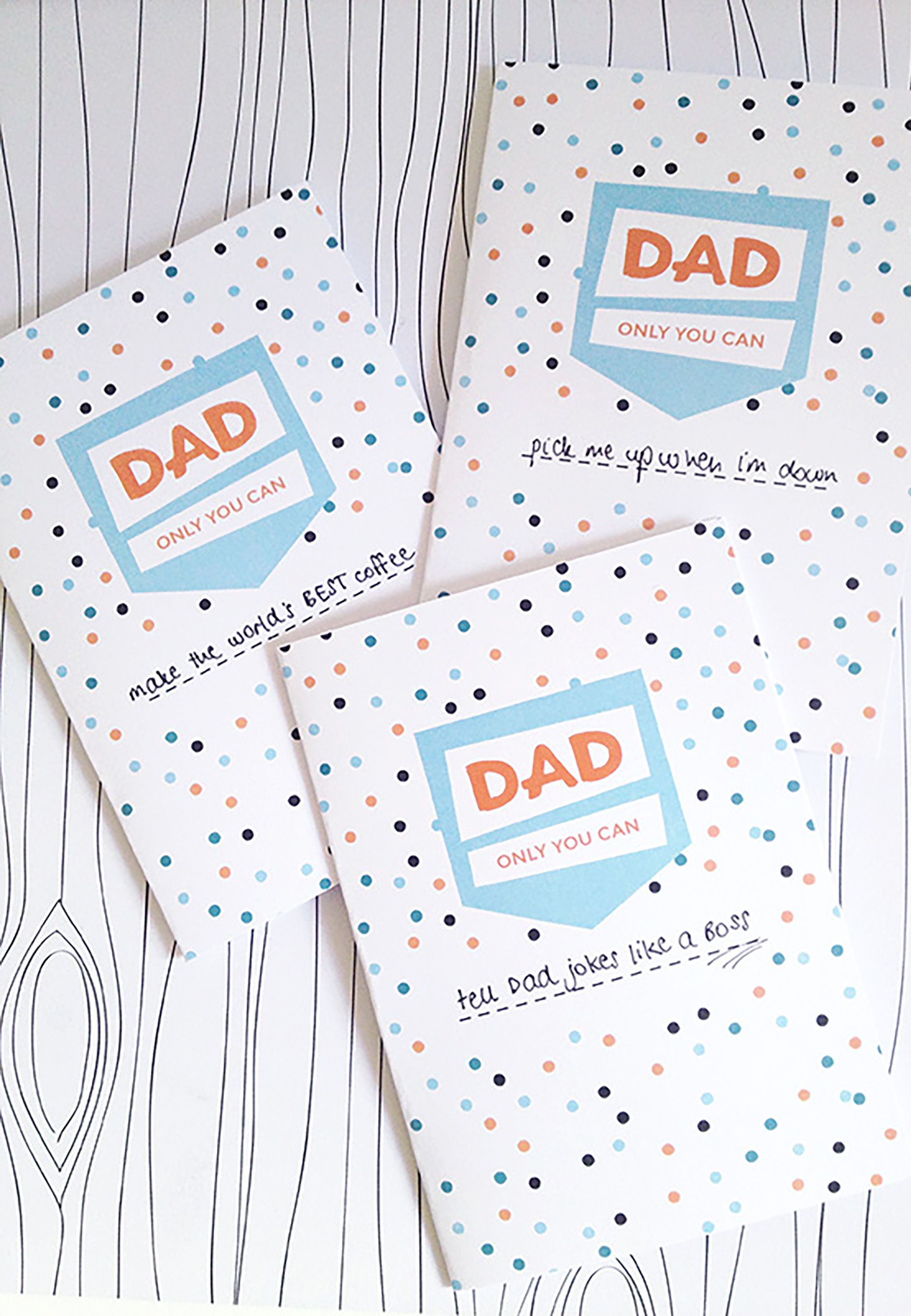photo regarding Father's Day Printable identified as 25 Printable Fathers Working day Playing cards - Totally free Printable Playing cards For