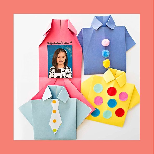 DIY Paper Crafts :: How to Make an Origami Paper SHIRTS with TIE ... | 637x640