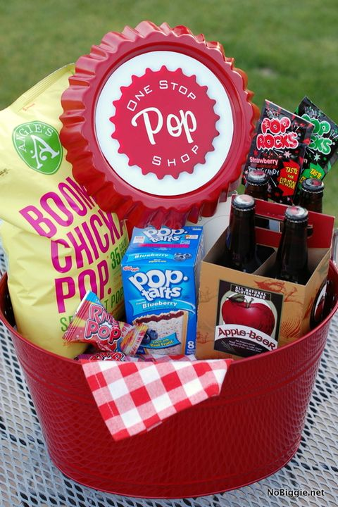 fathers day gift baskets pop themed