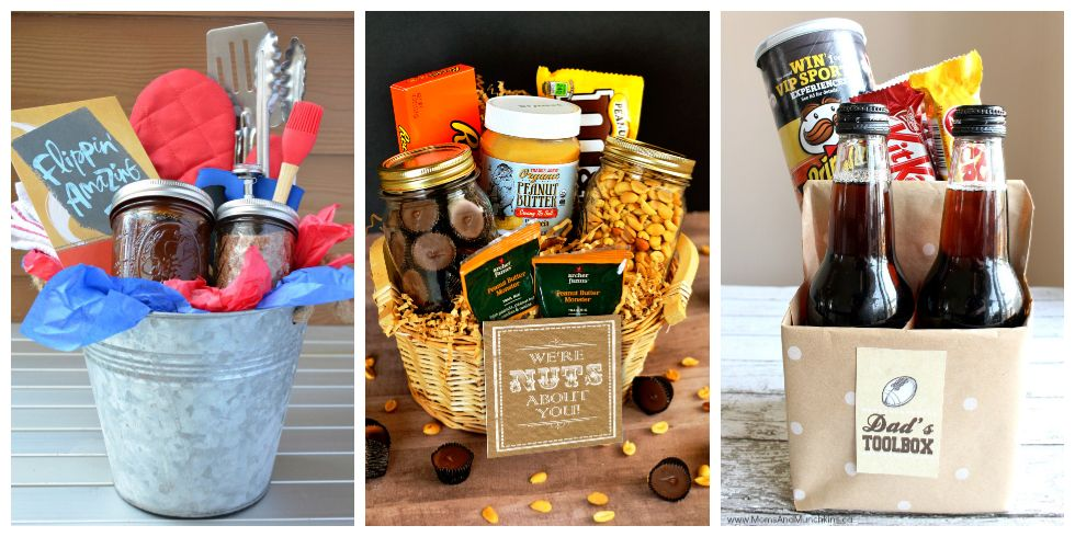 13 diy father 39 s day gift baskets homemade ideas for gift baskets for dad. Black Bedroom Furniture Sets. Home Design Ideas