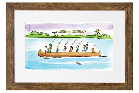 Fathers Day Gifts Canoe Painting